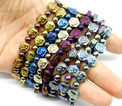 pierre naturelle cristal quartz charme en pierre titane Hématite Gem pendentif bijoux fabriquer des colliers Bracelet Accessoires A3