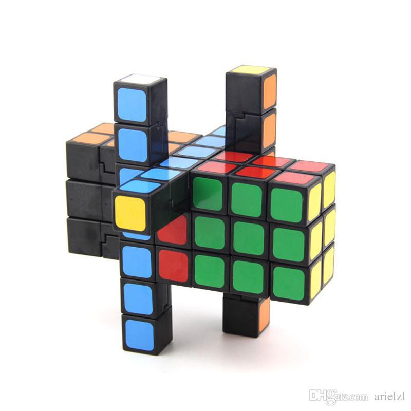 3x3x7 Camouflage Magic Speed Cube Professional enigma 337 Cube clássico do enigma brinquedos educativos para crianças cubo magico