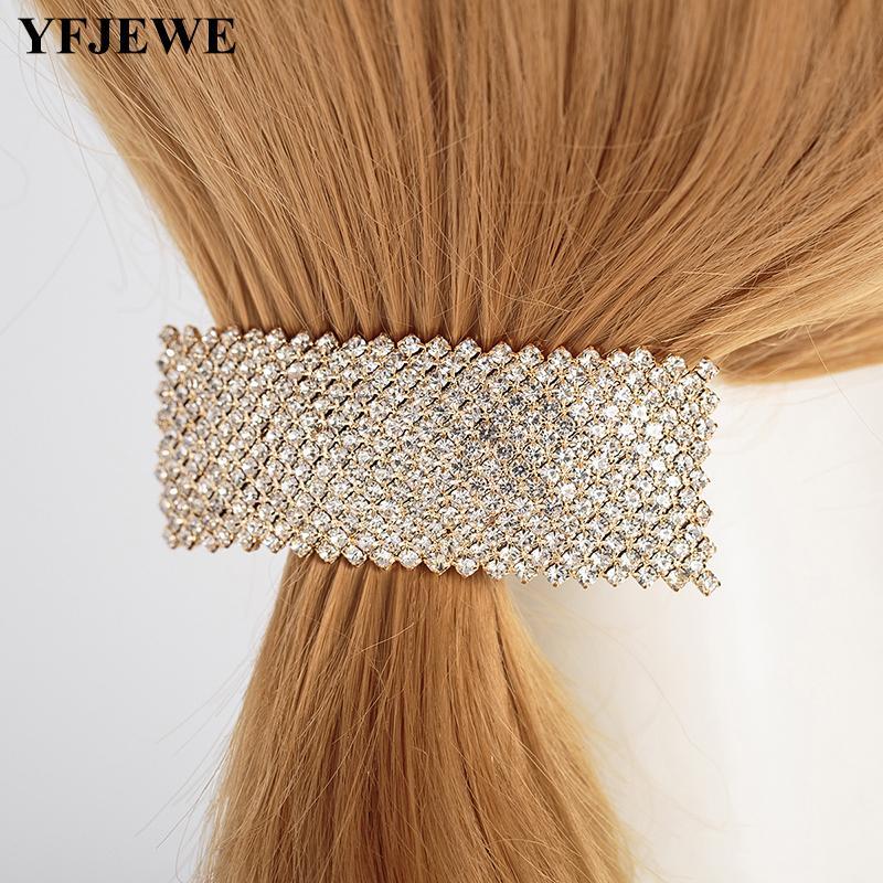 Women Wedding Bridal Clear Crystal Rhinestone Hair Accessories Jewelry Barrettes Headwear H048
