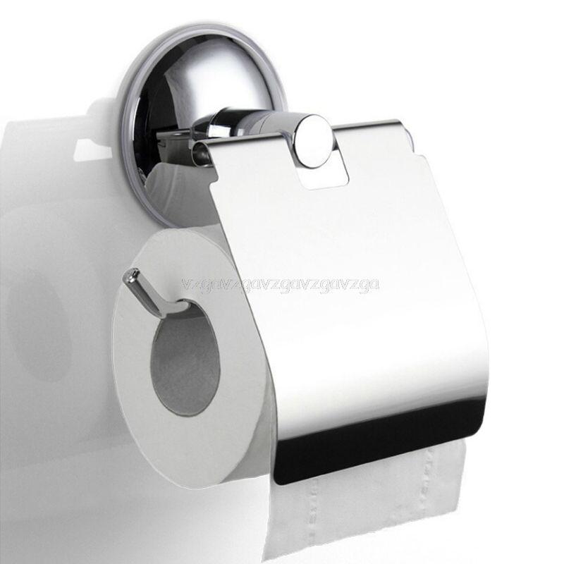Banyo Tuvalet Kağıdı Kağıt Tutucu Vakum Emiş Kupası Paslanmaz Çelik Duvar Tipi J16 19 Dropship Y200108