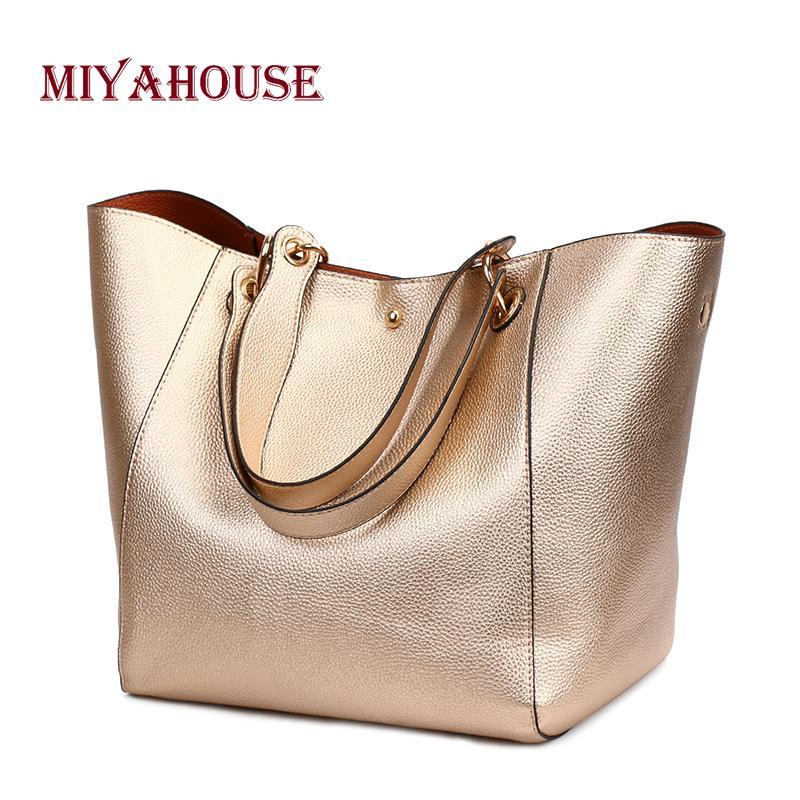 Miyahouse bolsos de la vendimia de las mujeres de asa superior bolsas de diseño brillante mujer gran capacidad bolsas de hombro bolsa de mensajero de las señoras J190616
