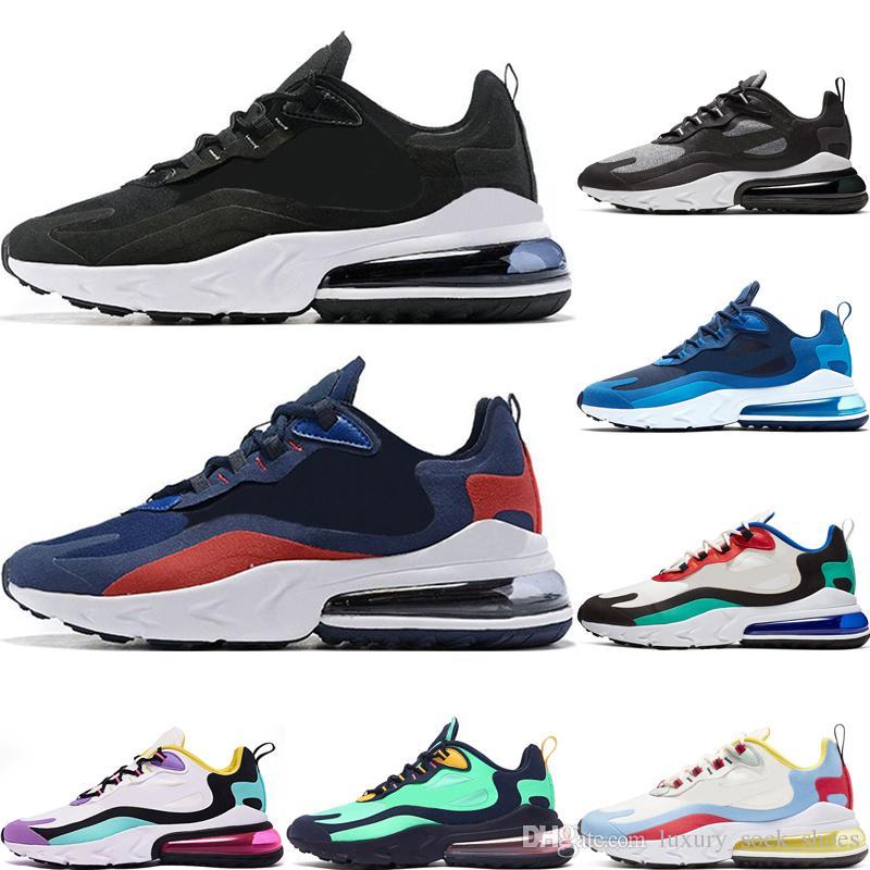 nike air max 270 react Yeni Varış erkekler kadınlar için koşu ayakkabıları tepki Bauhaus 1 Sağ Menekşe Siyah Beyaz klasik moda erkek eğitmenler spor sneakers boyutu 36-45