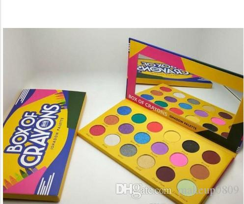 Dropshipping Make-up Lidschatten-Palette Box Kreiden ishadow Palette Kosmetik 18 Farben schimmern Schönheit Matte Lidschatten DER CRAYONS CASE