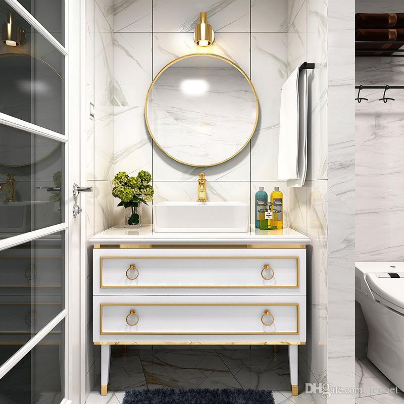2021 Nordic Light Luxury Solid Wood Bathroom Cabinet Modern Minimalist Bathroom Wash Basin Wash Basin Cabinet Combination Bathroom Furniturer From Jennet 261 31 Dhgate Com
