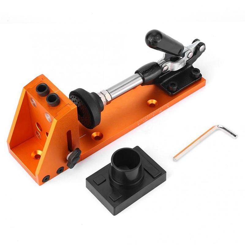 Carpenter Kit System Inclined Pocket Hole Drill Bit Drilling Locator Clamp Base Woodworking Tools