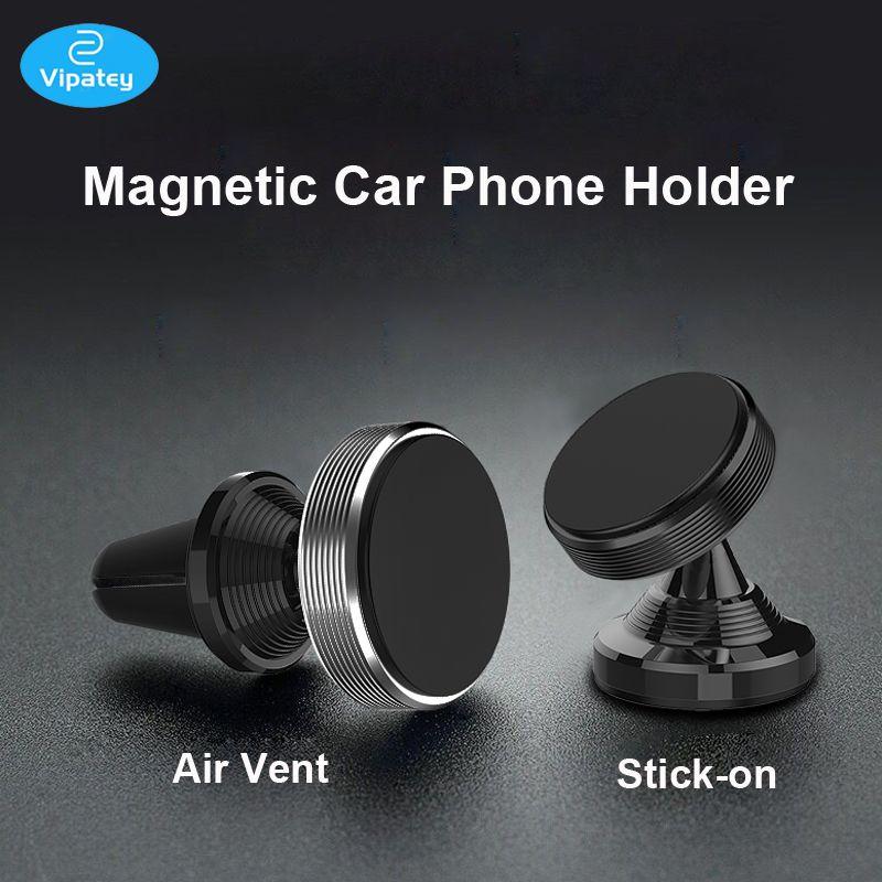 Supporto da auto magnetico per smartphone con ventilazione universale VIPATEY incluso per iPhone 7,8, 8+, 6, 6S, XR, X, per Galaxy S9,
