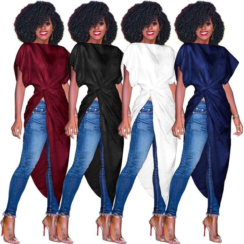 donne vendono bene un pezzo abiti casual abiti estivi abiti midi Slash Neck Asimmetrico Batwing / Dolman Sleeve Midi-vitello Plus size154