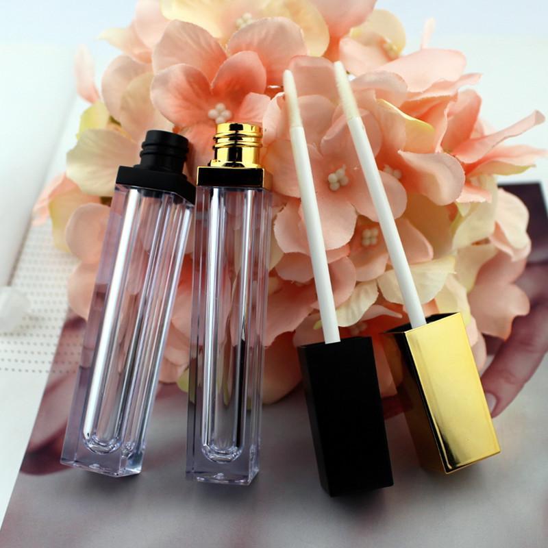 50шт высокого класса 6ml акриловые Блеск для губ бутылки Empty Cosmetic Lip Oil многоразовая трубка Жидкая губная помада Контейнер для хранения