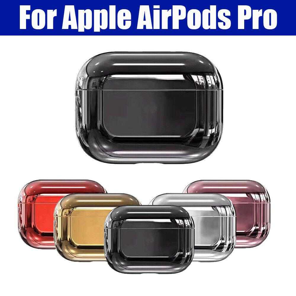 2020 Luxury Slim Shiny Pc Plating Headset Case For Airpods Pro