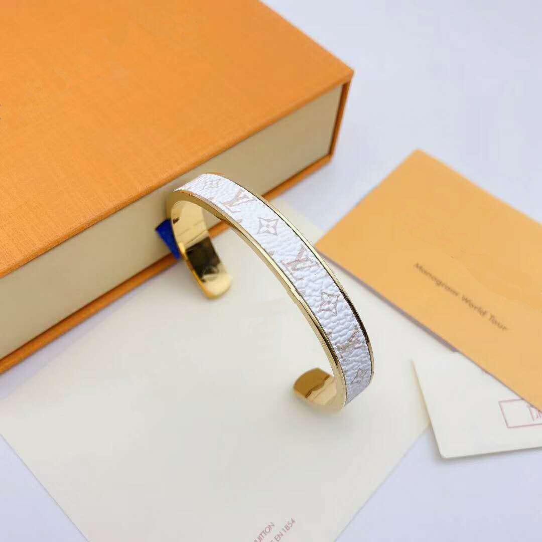 FashionLuxury Tasarımcı Takı Kadınlar ve Erkekler Bilezikler 12 Renk çiçek 316L Altın / Gül altın Açılış Sabit bilezik takı bilezikler