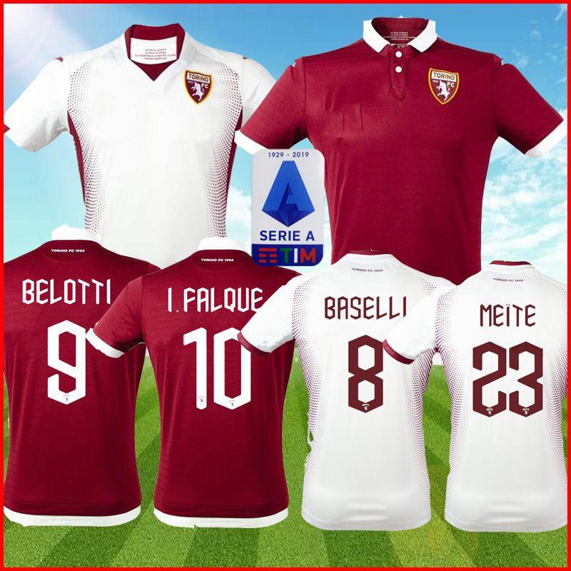 Acquista 19 20 Torino FC Soccer Jersey Away Away I.FALQUE 2019 2020 Torino BELOTTI IZZO NKOULOU Jersey BASELLI EDERA RINCON ZAZA Maglie Calcio Kit A ...
