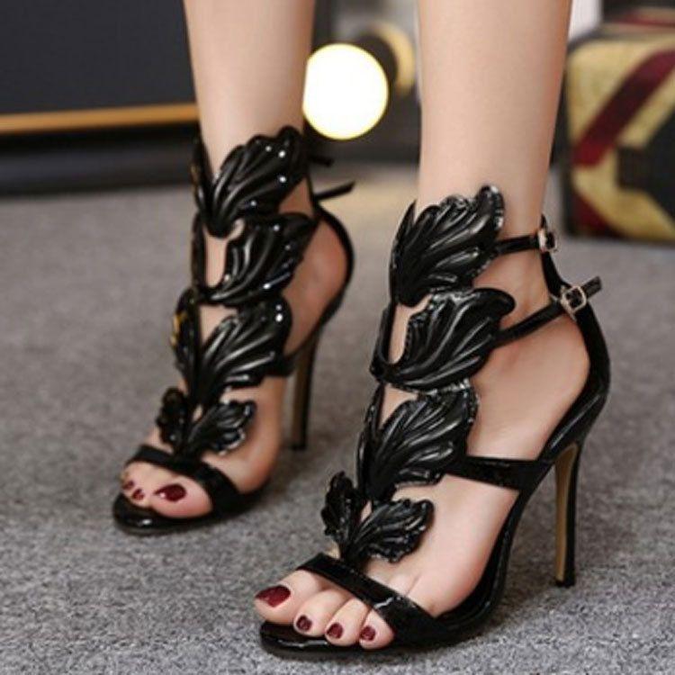 2019 новых европейских и американских женщин обувь звезда стиль внешней торговли открытым носком сандалии моды пересекают границу
