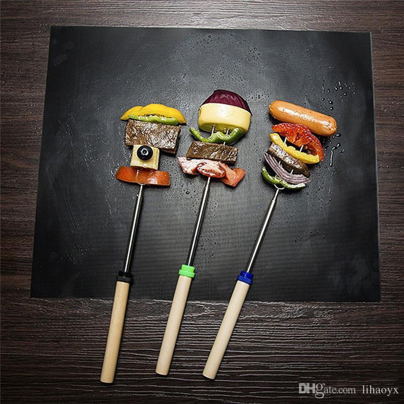 BBQ Grillmatte Wiederverwendbare Antihaft-Grill Backmatten Blechgrillfolie BBQ-Liner-Matte für Holzkohle, Gas, elektrisches Grill BBQ-Tool