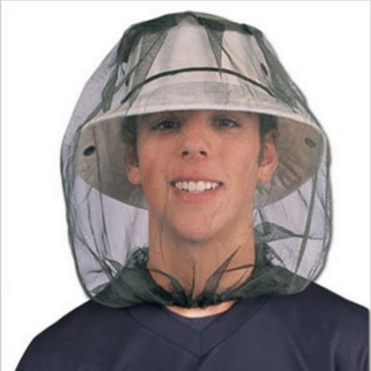 Anti-Mücken-Cap-Reisen Camping Hedging Leichte Midge Moskito-Insekt-Hut Bug Mesh Head Net Gesichts-Schutz CCA12164 120pcs