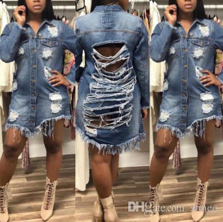 Yeni Stil Moda Erkek Arkadaşı Stil Kadın İnce Denim Ceket Uzun Kollu Casual Jean Ceket Giyim