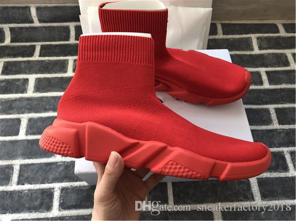 2020 calzino del pattino di velocità a maglia formatori casual scarpe da tennis Speed Trainer Calzino da corsa del nero di modo calza gli uomini e Scarpe Donna Sport 36-45
