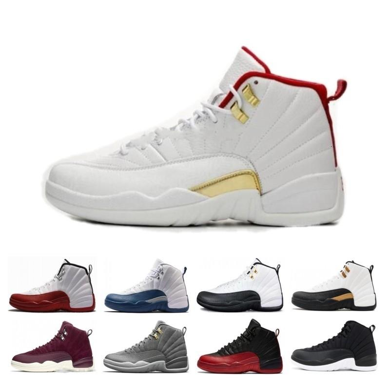 Discounts 12s CNY Chinese New Year White Gold Men Basketball Shoes 12 FIBA Bumblebee Game Royal Sports Sneakers