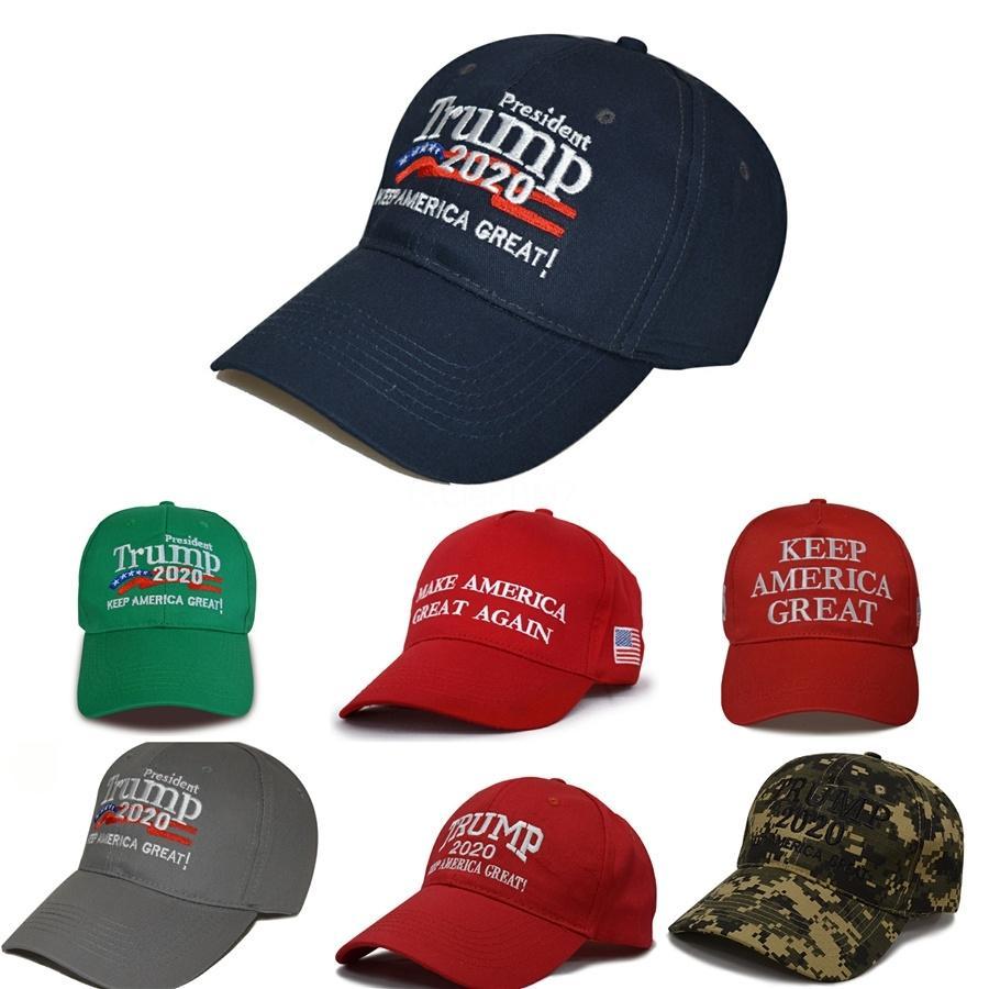 Дизайнер Дональд Трамп Cap Keep America Great Письмо вышивки хлопка Изогнутые Бейсболки Взрослые Mens женщин Спортивные шапки Солнцезащитный козырек # 134