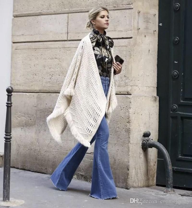 Bell alt kot kadınlar uzun Flare pantolon mavi moda seksi esnek pantolon geniş bacak pantolon bağbozumu streç boynuz siyah jean