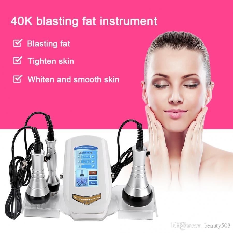 جديد زر التحكم باللمس بالموجات فوق الصوتية التجويف 40KHZ ومتعدد الأقطاب RF الوجه الجسم آلة الجمال الدهون الشعلة وزن الجسم اخسر
