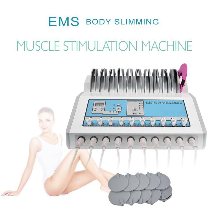 2020 nouvelle arrivée Livraison gratuite russe vague EMS électrique Muscle Stimulator électrothérapie machine minceur corps électrode Pad