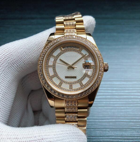 Мужчины Часы ETA2836 Автоматическое движение 41mm 904L стальной ленты Мужские наручные часы 100M водонепроницаемый сапфировое стекло Мужчины Наручные часы