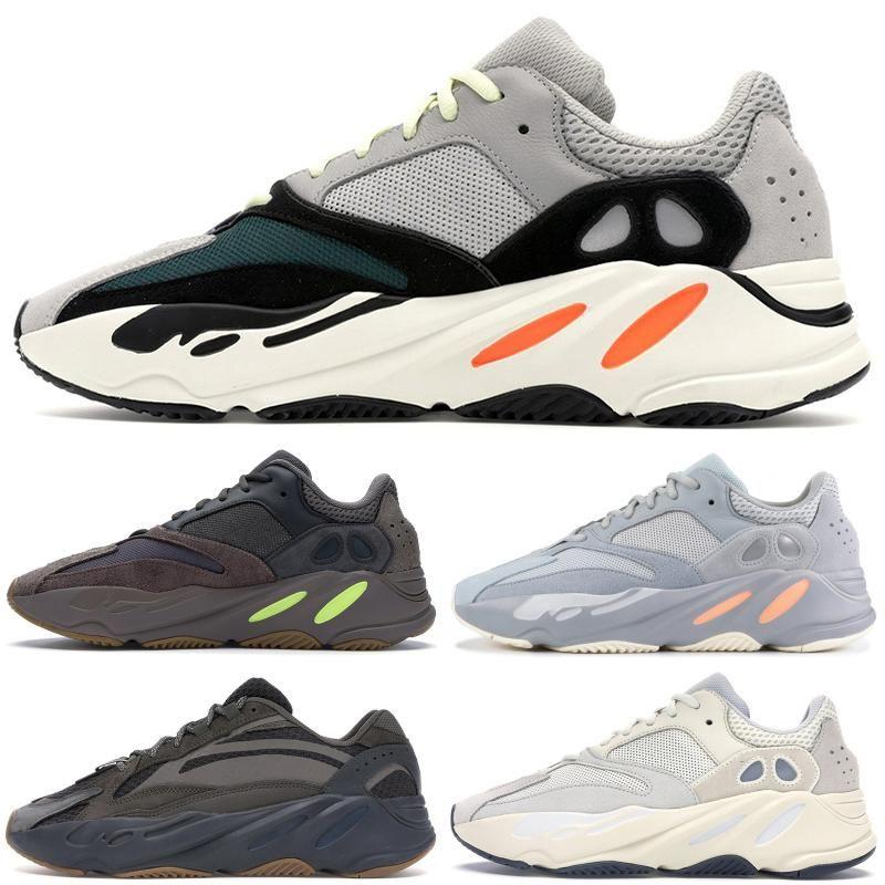 Kanye West 700 Vanta estática Inércia Sal Geode Reflective Mens Running Shoes malva Cinza contínuo Designer Luxo Sneakers tamanho 36-46 Com Box
