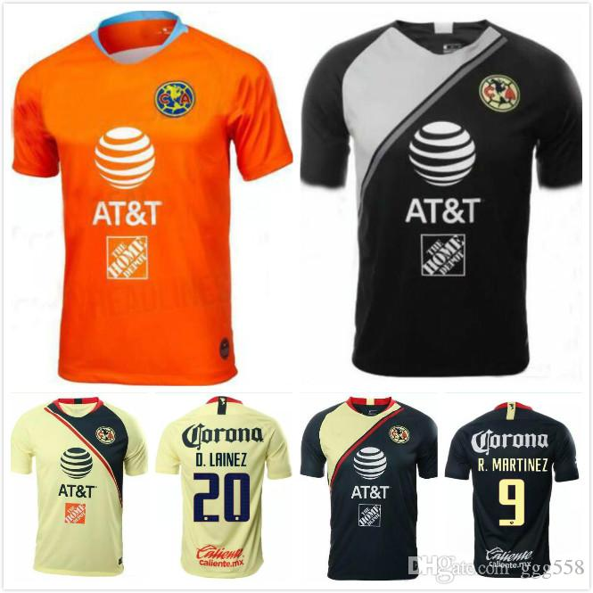 the best attitude a743b d7c27 2019 1 2018 2019 Mexico Club America Goalkeeper Orange Soccer Jersey 18 19  C.BLANCO Home Away D.BENEDETTO R.SAMBUEZA O.PERALTA Soccer Uniforms From ...