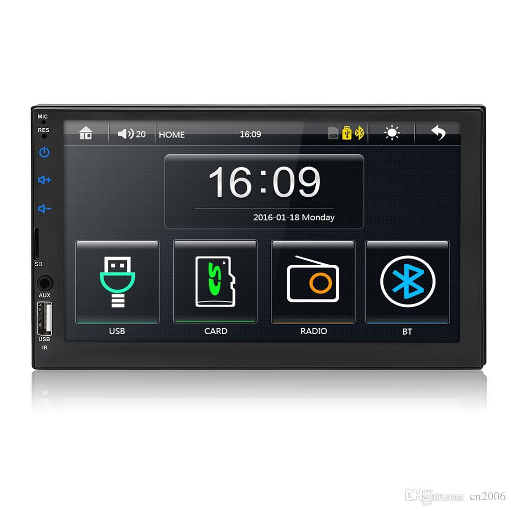 Autoradio 2 الدين راديو السيارة 7 HD شاشة تعمل باللمس الوسائط المتعددة MP5 لاعب 2DIN السيارات السمعية سيارة ستيريو بلوتوث USB TF FM كاميرا