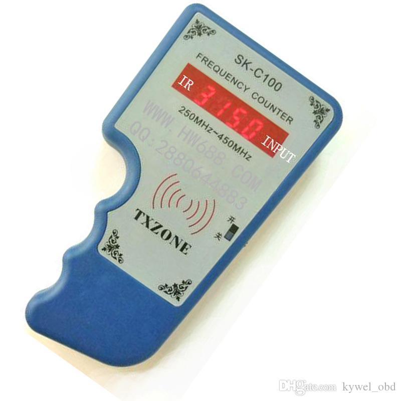 Strumenti per fabbro caldo Contatore di frequenza SK-C100 Contatore di frequenza senza fili Palmare Tester di frequenza Contatore Tester remoto 250-450 Mhz