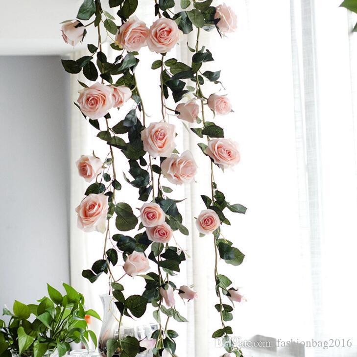 1,8 Mt Künstliche Blume Australien Reben Seide Rose Rosa Weiß Rote Blume für Hochzeitsdekoration Künstliche Reben Hängen Girlande Wohnkultur