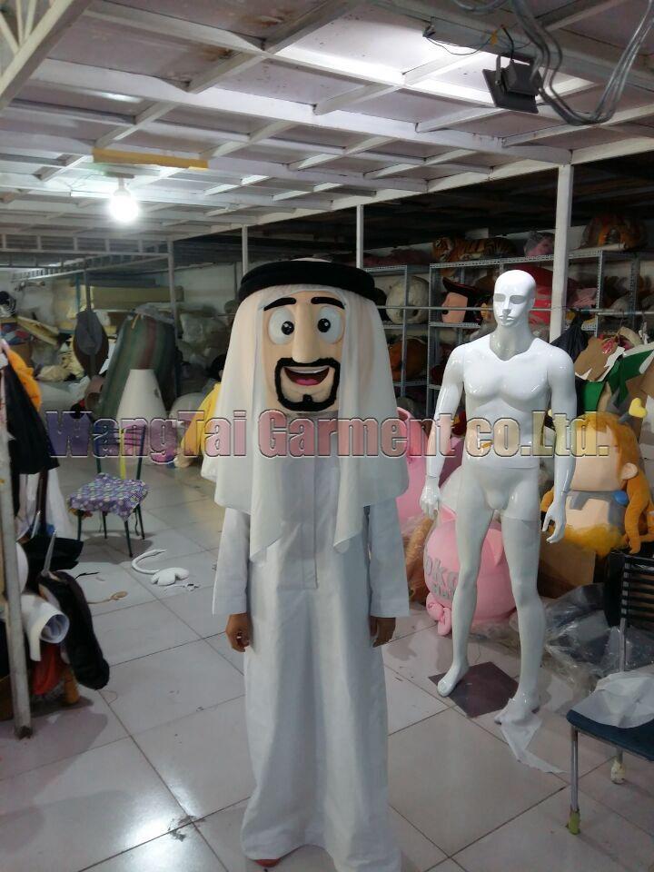 Árabes de la mascota del traje del tamaño de envío gratuito para adultos, carnaval juguete de peluche de la película de anime las ventas de Arabia juego de la mascota historieta clásica fábrica mascota