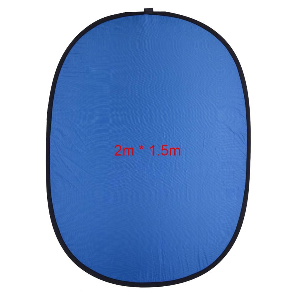 Freeshipping 1.5*2.0m Reflector Collapsible Nylon Blue&Green (2in1) Backdrop Background Panel for Photo & Video Studio Photography
