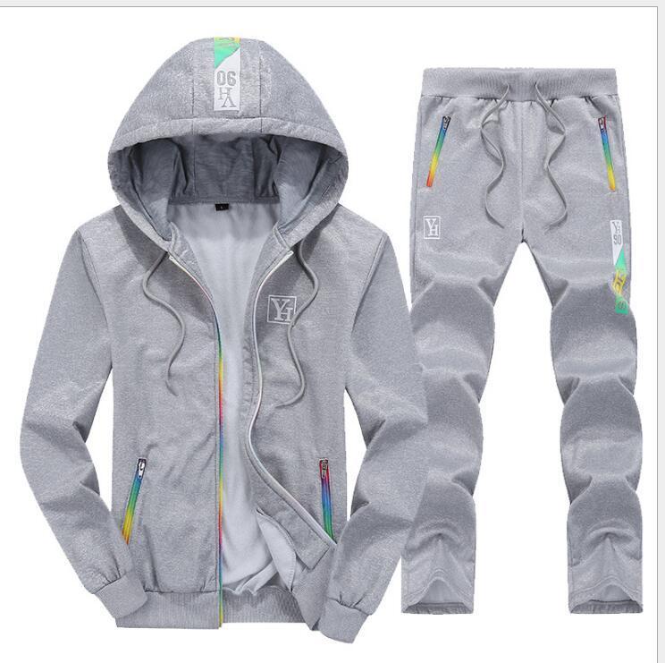 2020 Homens Define com capuz Treino Pista agasalhos ternos três listras Masculino Sweatsuit Mens esportivos Mens vestuário S-3XL
