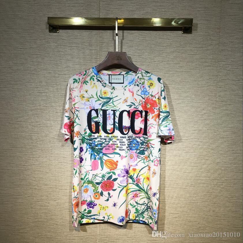 2019 Medusa t-shirts Europäische Herren Sommer Baumwolle T-shirts Grüne Blume Sun Print Tee Tops Kurzarm Designer Casual T-Shirt