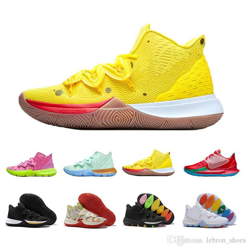 2019 Los más nuevos zapatos nike Kyrie para hombre Zapatillas de baloncesto PE 5 Aniversario rojo Verde Esponja Running Irving 5s Cinco zapatillas de deporte de lujo 40-46