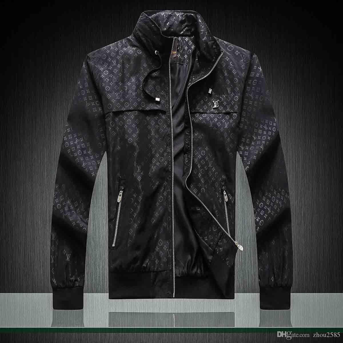 2020 di marca calda giacca a vento giacca con cappuccio abbigliamento cerniera uomini a maniche lunghe con la lettera animale ricamo serpente vestire M-4XL