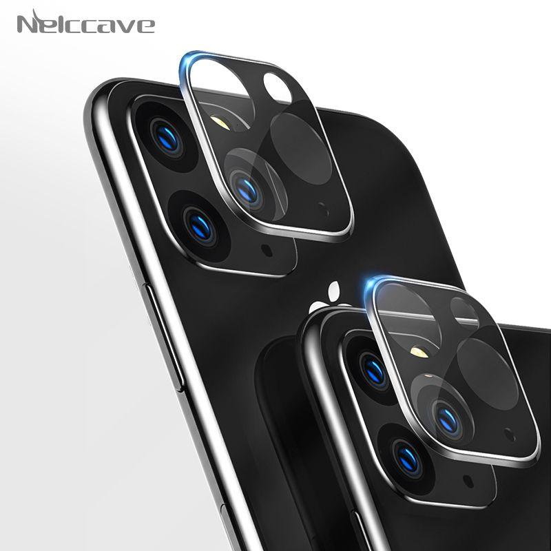 10 piezas de vidrio templado con el objetivo de la cámara para el iPhone Pro Max 11 11 Pro de titanio len conjunto protector de pantalla de protección
