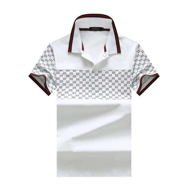 Yeni tasarımcı erkek polo tişört 2019 yeni çizgili renk gündelik erkek polo moda erkek yaz tişört m-3XL boyutu # 029