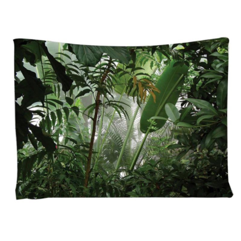Planta Tropical Tapestry Wall Hanging poliéster fina Bohemia Cactus Banana Leaf Imprimir tapeçaria toalha de praia Almofada