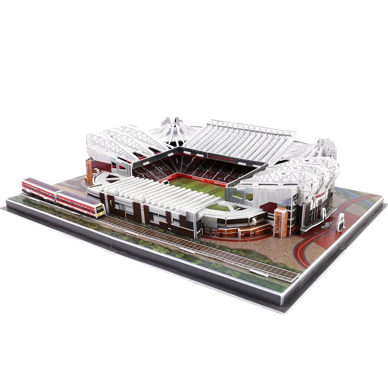 DIY de Puzzle Os Red Devils Old Trafford Arquitetura Estádios de futebol tijolo Brinquedos maquetes conjuntos de papel Edifício clássico Jigsaw Y200413