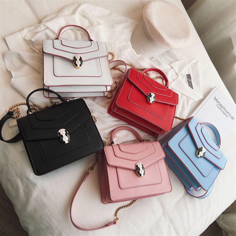 2020 new snake head handbag female Korean version of the net red fashion female bag snake bone chain bag wallet