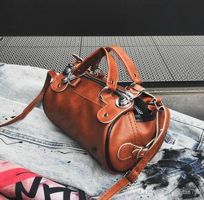 NOVO Mini saco de crossbody circular de couro pu Moda feminina senhora designer Europa Rua bolsa de luxo totes único ombro mens Messenger Bag