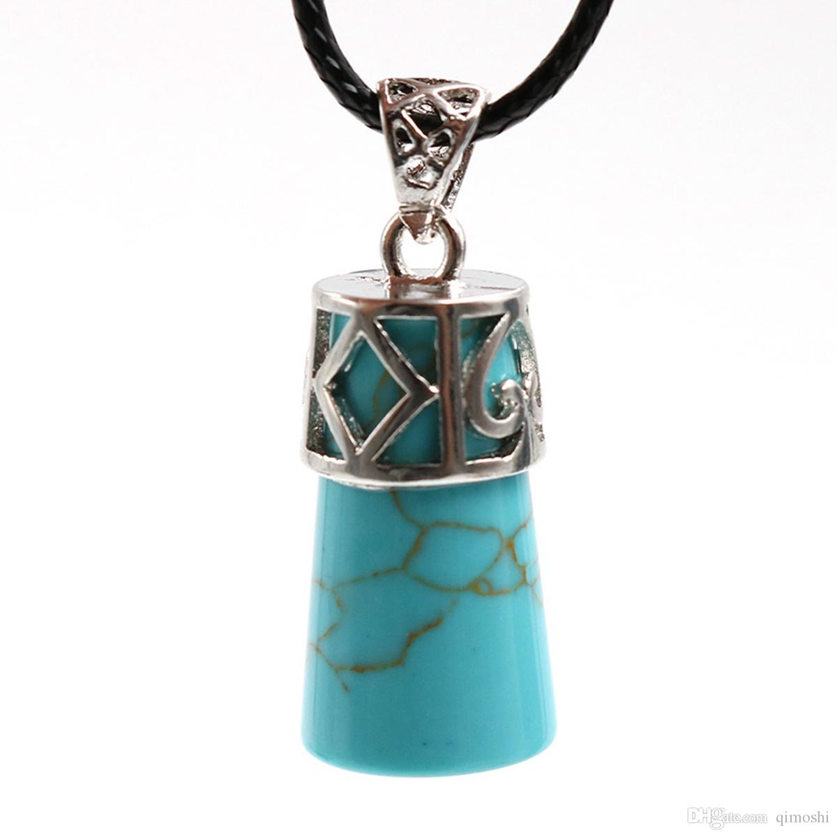 Silver alloy cylinder pendant men and women charm personality fashion jewelry