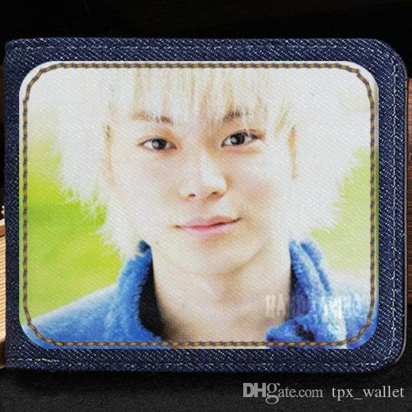 Suda Masaki carteira ator Popular bolsa Japão star curto caixa de nota de dinheiro Dinheiro notecase Couro jean burse bag Titulares de cartão