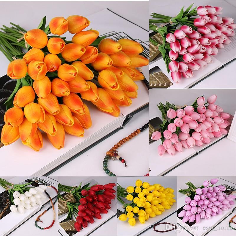 Латексные тюльпаны искусственный ПУ букет цветов Real touch цветы для украшения дома свадебные декоративные цветы 11 цветов вариант