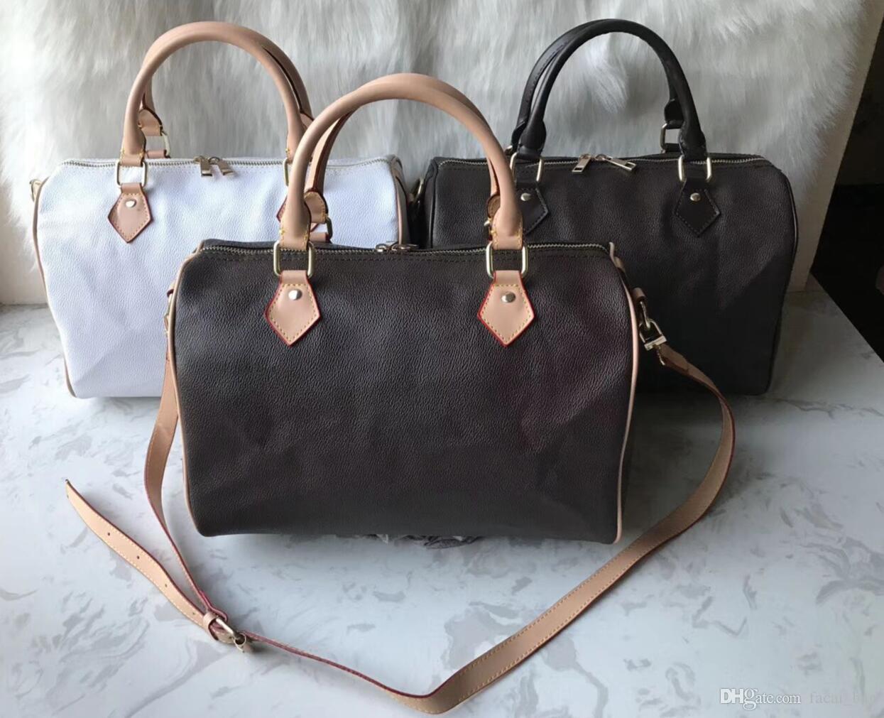 Femmes Sac messenger style classique sacs de mode femme sac Sacs à bandoulière sacs à main Lady Totes Speedy avec bandoulière, sac à poussière 85668