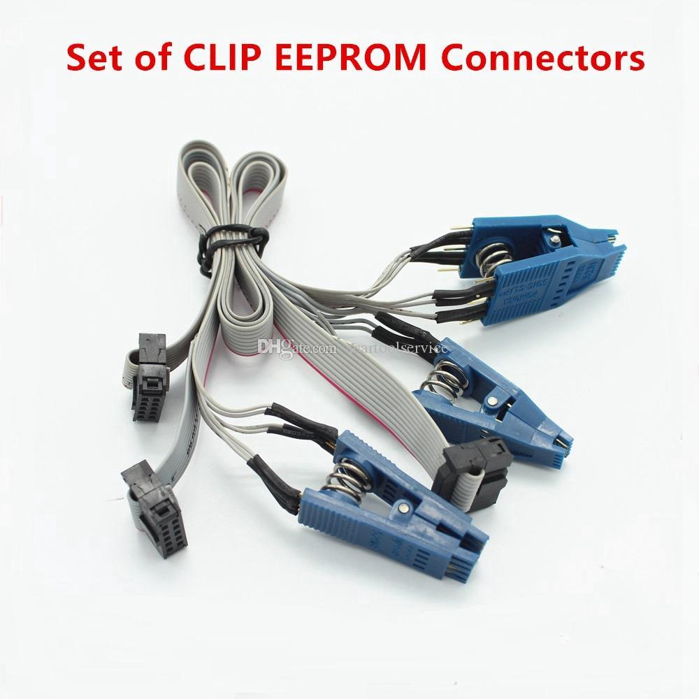 ACT Set di connettori CLIP EEPROM per Tacho PRO Universal DIP-8CON SOIC-14CON e SOIC-8CON Cavo adattatore di nuova versione