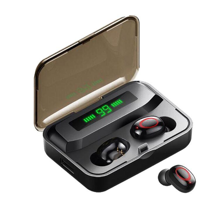 A1 TWS سماعات الأذن اللاسلكية Bluetooth أدى العرض السلطة ستيريو HD الرياضة سماعات لاسلكية سماعات الرأس الألعاب المصغرة