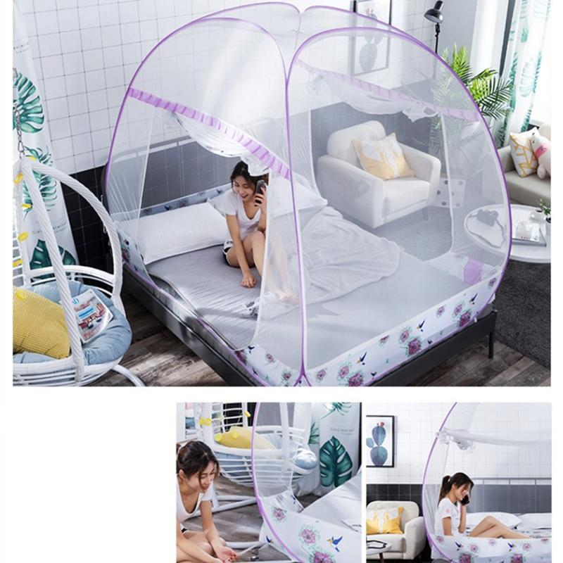 Mosquito Bed Net Automatische Installation Bett Netting Tent Mongolian Yurt Moskitonetz Großraum Quadrate Insektennetz Hot Verkauf